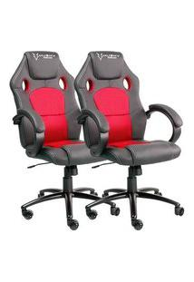 Cadeira Gamer Husky Snow Black Red Hsn-Br + Cadeira Gamer Husky Snow Black Red Hsn-Br