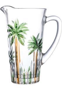Jarra Cristal Palm Tree Handpaint 1,2L