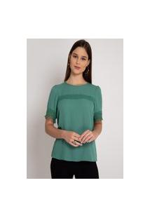 Blusa Donna Ritz De Crepe Verde