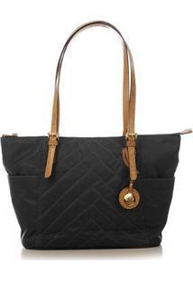 Bolsa Couro Blue Bags Nylon Matelassê Feminina - Feminino-Preto
