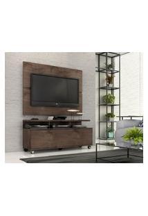"""Rack Com Painel Home Buzios 1,2 M Para Tv 48"""" Marrom"""