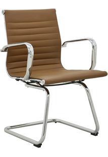 Cadeira Fixa Baixa Oficce Pu Sevilha -Rivatti - Marrom