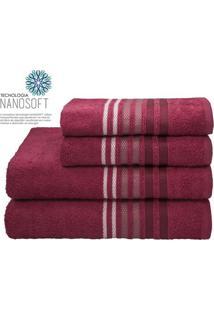 Toalha De Banho Dynamo- Vermelho Escuro & Branca- 70Camesa
