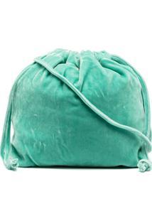 Aspesi Bolsa Bucket Com Efeito De Veludo - Verde