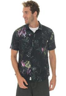 Camisa Timberland Tropical Florest Masculina - Masculino-Preto