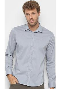 Camisa Manga Longa Forum Smart Masculina - Masculino-Cinza Claro