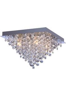 Plafon Llum Italia Quadrado 33Cm G9 Bivolt - Transparente Transparente