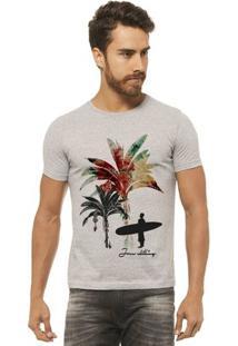 Camiseta Joss - Palmeira Color - Masculina - Masculino-Mescla