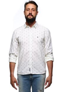 Camisa King&Joe Manga Longa Off-White