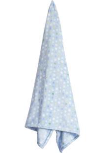 Cobertor Infantil Baby Camesa Flannel 90X110Cm Bolinhas Azul