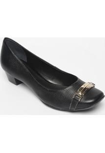 Sapato Tradicional Em Couro- Preto- Salto: 3Cmjorge Bischoff