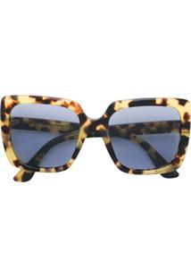 Gucci Eyewear Óculos De Sol Quadrado - Amarelo