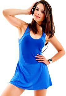 Vestido Mama Latina Macaquinho Azul - Azul - Feminino - Poliamida - Dafiti