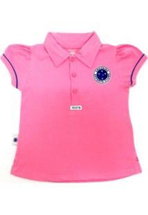 Camiseta Polo Reve D'Or Sport Cruzeiro Rosa
