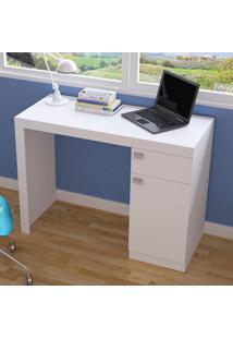 Mesa Escrivaninha 1 Porta 1 Gaveta Bc 35 Branco - Brv Móveis