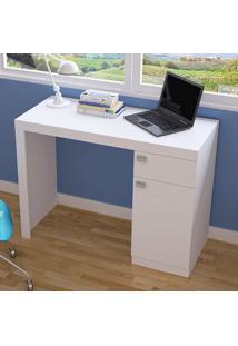 Mesa Para Computador Escrivaninha Bc 35 Branco - Brv Móveis