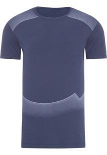 Camiseta Masculina Ckj Mc Long Estampada - Azul