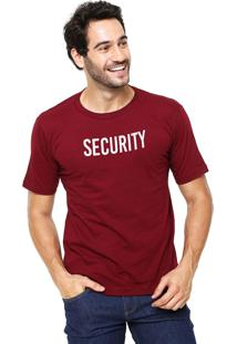 Camiseta Rgx Security Bordô