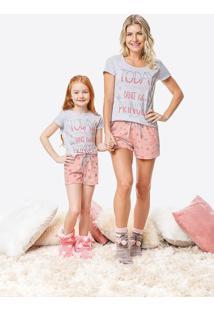 Pijama Feminino Curto Estampado Malwee Liberta