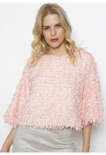 Blusa Em Pelúcia - Rosa Claro- Le Fixle Fix