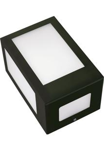 Arandela Retangular Angular Com Visor 6135 11X13X19 1 Lâmpada Verde Pantoja&Carmona