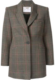 Camilla And Marc Plaid Longline Blazer - Estampado