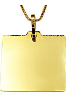Pingente Em Ouro Menino Com Macacão Cravejado - Pg19066