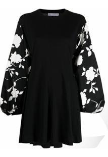 Jw Anderson Vestido Com Estampa Floral - Preto