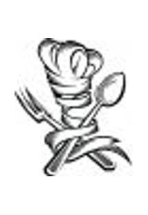 Adesivo Decorativo De Cozinha - Toque Blanc E Talheres - 003Cz-P