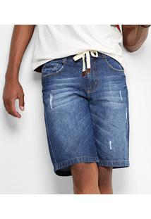 Bermuda Jeans Drezzup Estonada Masculina - Masculino