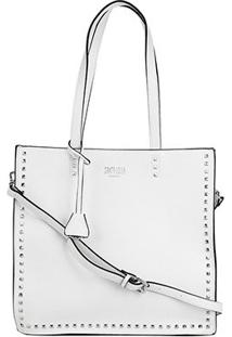 Bolsa Santa Lolla Shopper Tachas Feminina - Feminino-Branco