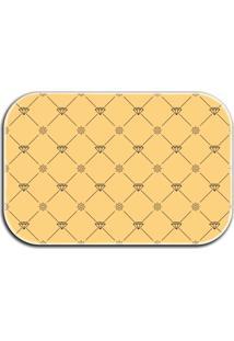 Tapete Decorativo Lar Doce Lar Diamantes 40Cm X 60Cm Amarelo