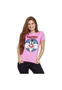 Camiseta Sideway Looney Tunes Frajola - Rosa