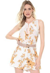 Regata Lança Perfume Floral Branca/Amarela