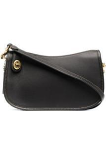 Coach Swinger Leather Shoulder Bag - Preto