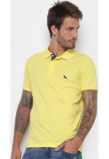 Camisa Polo Acostamento Básica Masculina - Masculino-Amarelo