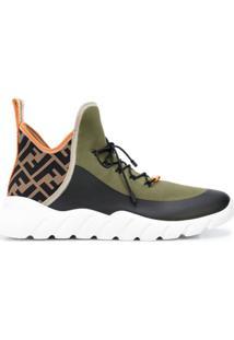 Fendi High-Top Tech Knit Sneakers - Verde
