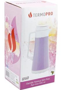 Garrafa Térmica Inox Slim Pink 600Ml Termopro Termopro
