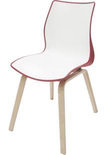 Cadeira Maja Vermelha Com Base De Madeira 92066140 Tramontina