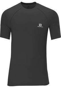Camiseta Salomon Hybrid Ss Preta