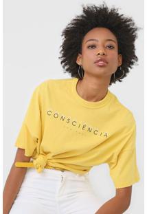 Camiseta Colcci Consciãªncia Amarela - Amarelo - Feminino - Algodã£O - Dafiti