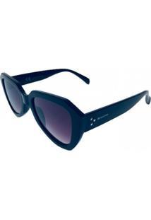 Óculos De Sol Khatto Retrô Poderosa - C059 - Azul - Preto - Kanui