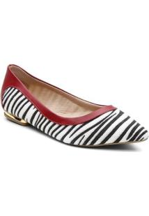 Sapatilha Violanta Africa Zebra Feminino - Feminino-Preto+Branco