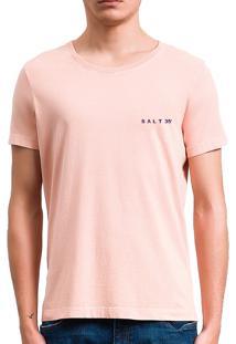 Camiseta Salt35G Básica Estonada Papaya Laranja