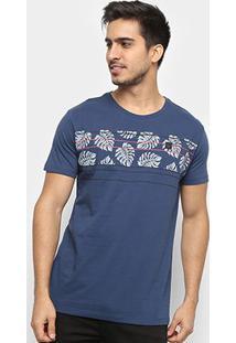 Camiseta Hang Loose Silk Leavstripe Masculina - Masculino-Marinho