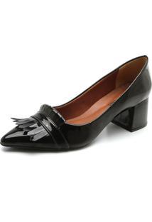 Scarpin Dafiti Shoes Franja Preto