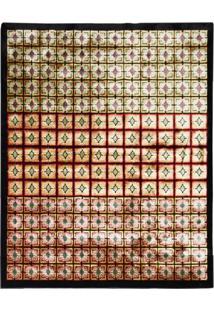 Tapete Cambodia Retangular Veludo 198X250 Cm Preto