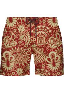 Shorts De Banho Citiz Shorts India Vermelho