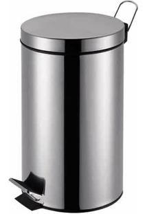 Lixeira Agata Inox Com Pedal 5L - Mor
