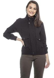 Jaqueta Bomber Lemier Collection Feminina - Feminino-Preto